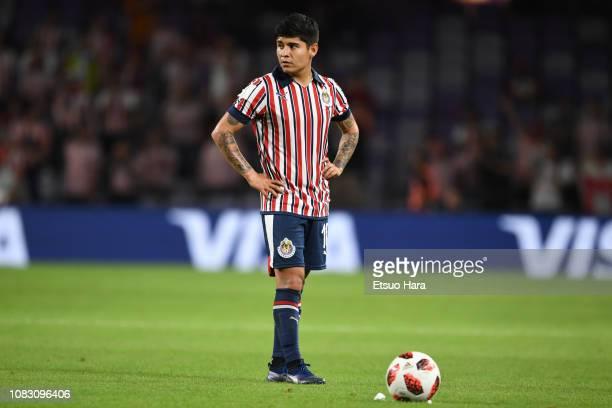 Eduardo Lopez of Guadalajara in action during the match between Kashima Antlers and CD Guadalajara on December 15, 2018 in Al Ain, United Arab...