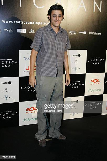 Eduardo Madina at the premiere of 'Caotica Ana' August 23 2007 at the Kinepolios Cinema in Madrid Spain