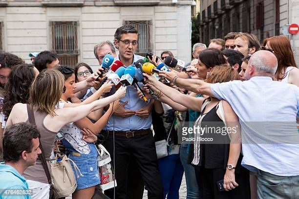 Eduardo Madina attends the funeral chapel for Pedro Zerolo at Casa de la Villa on June 9 2015 in Madrid Spain