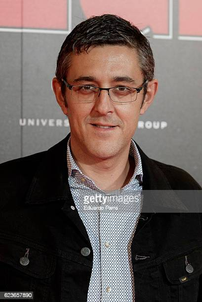 Eduardo Madina attends the 'Omega' premiere at Capitol cinema on November 16 2016 in Madrid Spain