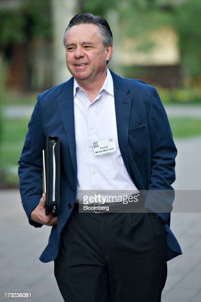 Eduardo MedinaMora Icaza former attorney general of Mexico arrives for a morning session during the Allen Co Media and Technology Conference in Sun...