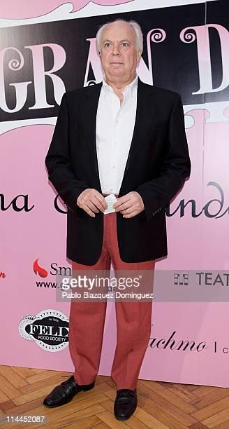 Eduardo Mendicutti attends 'La Gran Depresion' premiere at Infanta Isabel Theatre on May 19, 2011 in Madrid, Spain.