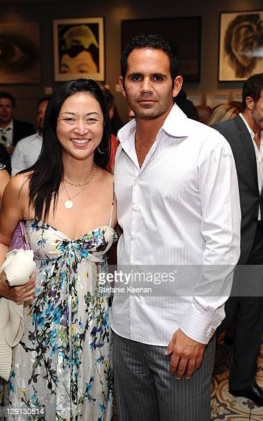 Eduardo Moises and Christine Y Kim attend at Palihouse on May 5 2011 in West Hollywood California