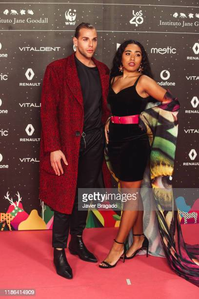 Eduardo Navarrete and Luna Lione attend 'Los40 music awards 2019' photocall at Wizink Center on November 08 2019 in Madrid Spain