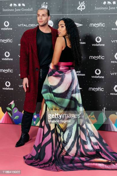 Eduardo Navarrete and Luna Lionne attend 'Los40 music awards 2019' photocall at Wizink Center on November 08 2019 in Madrid Spain