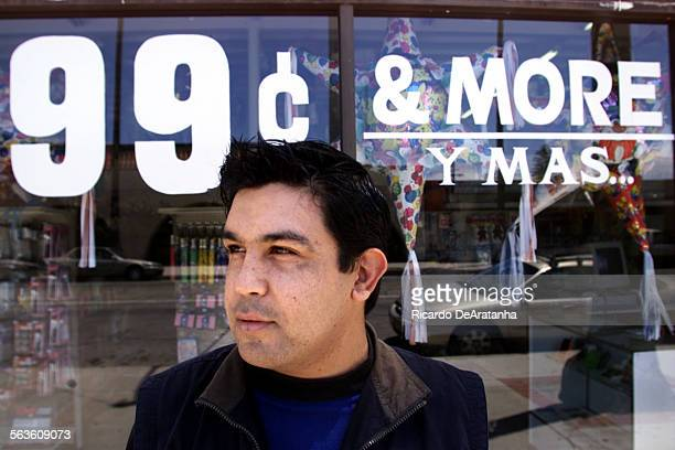 Eduardo Navarro in front of his 99 cents More y Mas store in Oxnard Photo to illustrate story that Oxnard Planning Commission is making it more...
