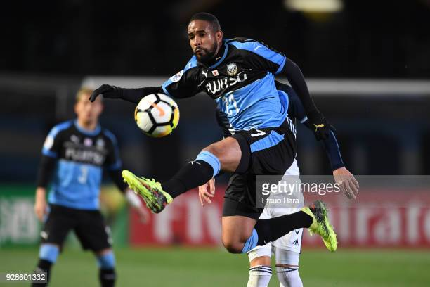Eduardo Neto of Kawasaki Frontale in action during the AFC Champions League Group F match between Kawasaki Frontale and Melbourne Victory at Todoroki...