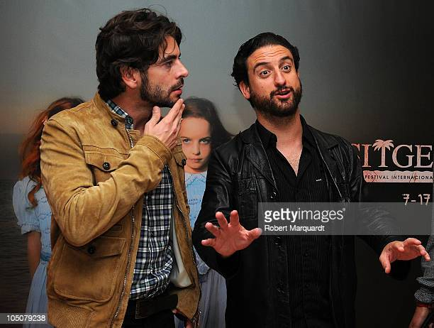 Eduardo Noriega and Eugenio Mira pose on the red carpet for their latest film 'Agnosia' at the 43rd Sitges film festival on October 8 2010 in Sitges...
