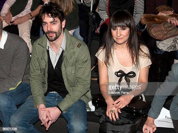 Eduardo Noriega and Eva Amaral attends day four of Cibeles Fashion Week at Ifema on February 21 2010 in Madrid Spain