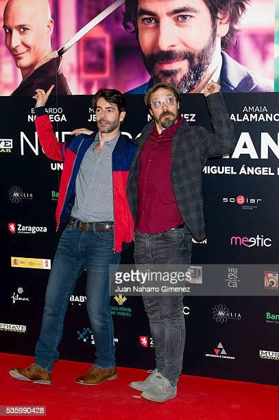 Eduardo Noriega and Fele Martinez attend 'Nuestros Amantes' photocall at Palafox Cinema on May 31 2016 in Madrid Spain