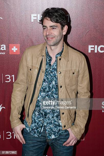 Eduardo Noriega attends the red carpet of the movie Mr Pig at Diana Theater on March 05 2016 in Guadalajara Mexico