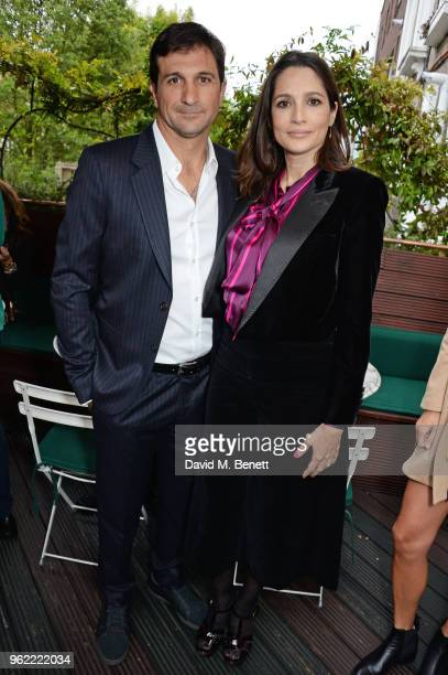 Eduardo Novillo Astrada and Astrid Munoz attends a private dinner hosted by Cartier to celebrate the opening of the British Polo Season at Casa Cruz...