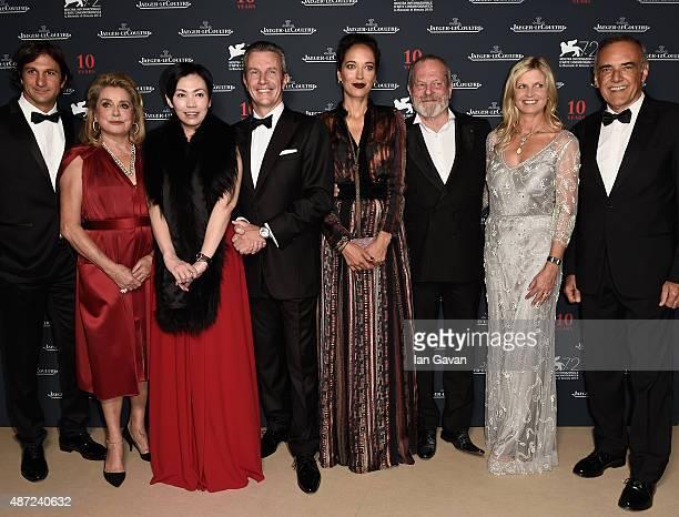 Eduardo Novillo Astrada Catherine Deneuve Kit Chan JaegerLeCoultre Ceo Daniel Riedo director Terry Gilliam Clare Milford Haven and Venice Film...