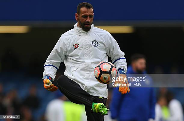 Eduardo of Chelsea before the Emirates FA Cup Third Round between Chelsea and Peterborough United at Stamford Bridge on January 8 2017 in London...