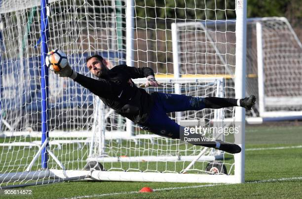 Eduardo of Chelsea during a training session at Chelsea Training Ground on January 16 2018 in Cobham England