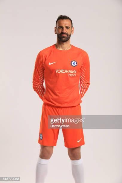 Eduardo of Chelsea during the New Nike Kit Photoshoot at Chelsea Training Ground on April 19 2017 in Cobham England