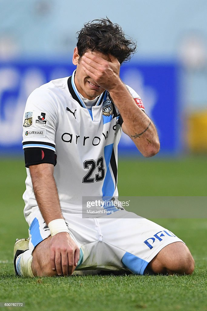 Eduardo of Kawasaki Frontale looks on after the 96th Emperor's Cup final match between Kashima Antlers and Kawasaki Frontale at Suita City Football Stadium on January 1, 2017 in Suita, Osaka, Japan.
