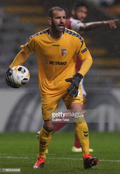 Eduardo of SC Braga in action during the Group K UEFA Europa League match between SC Braga and Wolverhampton Wanderers at Estadio Municipal de Braga...
