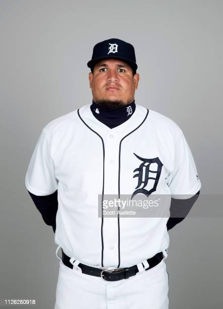 Eduardo Paredes of the Detroit Tigers poses during Photo Day on Tuesday February 19 2019 at Publix Field at Joker Marchant Stadium in Lakeland Florida