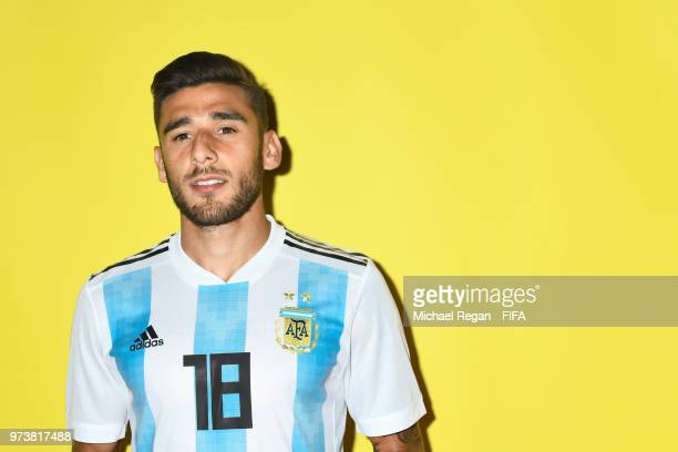 Eduardo Salvio during the official FIFA World Cup 2018 portrait session at on June 12 2018 in Moscow Russia