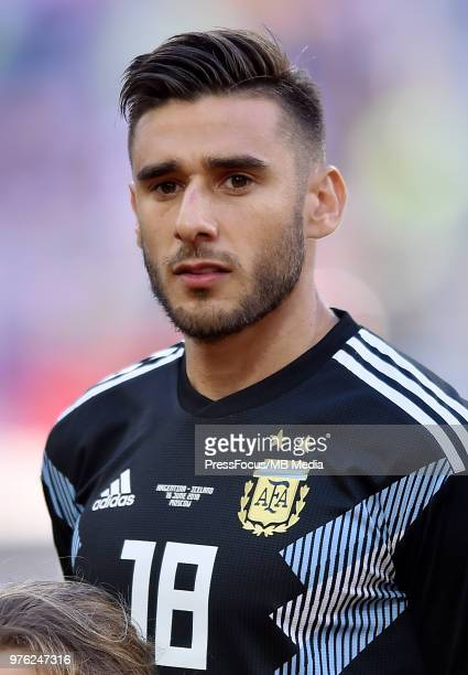 Eduardo Salvio of Argentina during the 2018 FIFA World Cup Russia group D match between Argentina and Iceland at Spartak Stadium on June 16 2018 in...