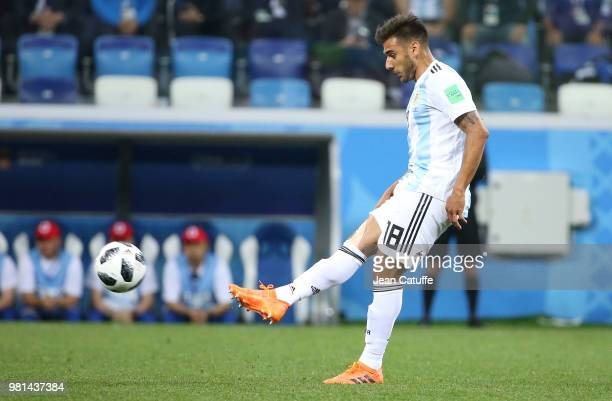 Eduardo Salvio of Argentina during the 2018 FIFA World Cup Russia group D match between Argentina and Croatia at Nizhniy Novgorod Stadium on June 21...