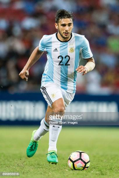 Eduardo Salvio of Argentina during the International Test match between Argentina and Singapore at National Stadium on June 13 2017 in Singapore