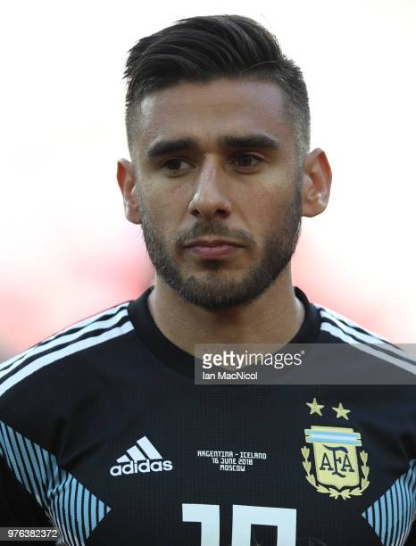 Eduardo Salvio of Argentina is seen during the 2018 FIFA World Cup Russia group D match between Argentina and Iceland at Spartak Stadium on June 16...