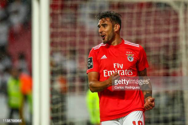 Eduardo Salvio of SL Benfica celebrates scoring SL Benfica sixth goal during the Liga NOS match between SL Benfica and CS Maritimo at Estadio da Luz...