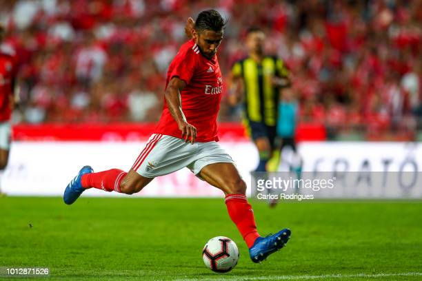 Eduardo Salvio of SL Benfica during the match between SL Benfica and Fenerbache SK for UEFA Champions League Qualifier at Estadio da Luz on August 7...