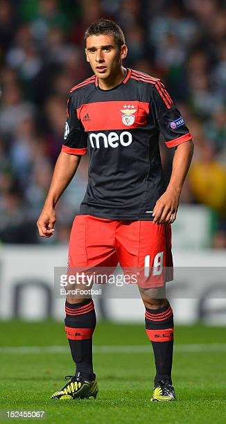 Eduardo Salvio of SL Benfica during the UEFA Champions League group stage match between Celtic FC and SL Benfica on September 19 2012 at Celtic Park...