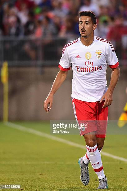 Eduardo Salvio of SL Benfica in action during an International Champions Cup 2015 match against ACF Fiorentina at Rentschler Field on July 24 2015 in...