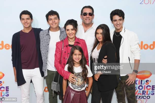 Eduardo Santamarina Mayrin Villanueva and guests attend the Nickelodeon Kids' Choice Awards Mexico 2017 at Auditorio Nacional on August 19 2017 in...