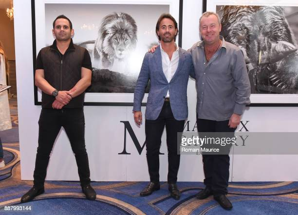 Eduardo Serio Jay Rutland and David Yarrow attend Haute Living's VIP PopUp opening of Alec Monopoly from Art Life and David Yarrow from Maddox...