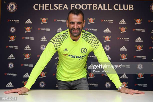 Eduardo signs for Chelsea FC at Chelsea Training Ground on August 25 2016 in Cobham England