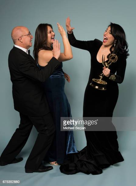 Eduardo Suarez Natalie Monterosa and Alejandra Oraa pose for portraits at The 44th Daytime Emmy Awards Portraits by The Artists Project Sponsored by...
