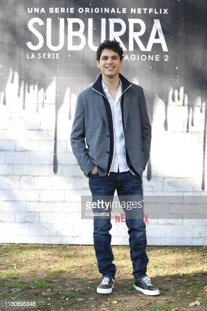 Eduardo Valdarnini attends a photocall for Netflix Suburra The Series season 2 at Casa del Cinema on February 20 2019 in Rome Italy