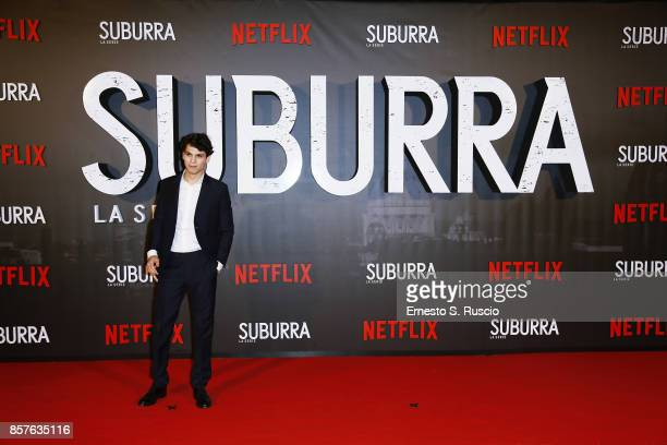 Eduardo Valdarnini attends Netflix's Suburra The Series Premiere at The Space Moderno on October 4 2017 in Rome Italy