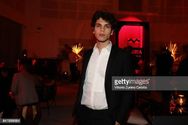 Eduardo Valdarnini attends 'Suburra The Series' Cocktail Party during the 74th Venice Film Festival at JW Mariott Terrace on September 2 2017 in...