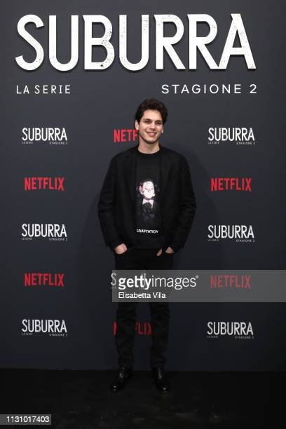 Eduardo Valdarnini attends the after party for Netflix Suburra The Series season 2 launch at Circolo Degli Illuminati on February 20 2019 in Rome...