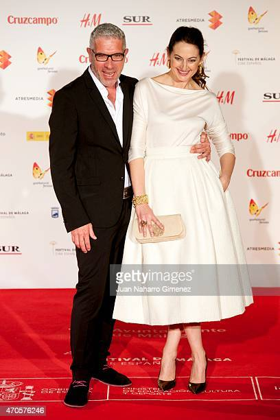 Eduardo Velasco and Cuca Escribano attend the 'Requisitos Para Ser Una Persona Normal' premiere during the 18th Malaga Spanish Film Festival at...