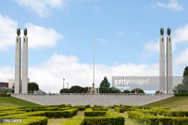 eduardo vii park in lisbon - gwengoat stock pictures, royalty-free photos & images