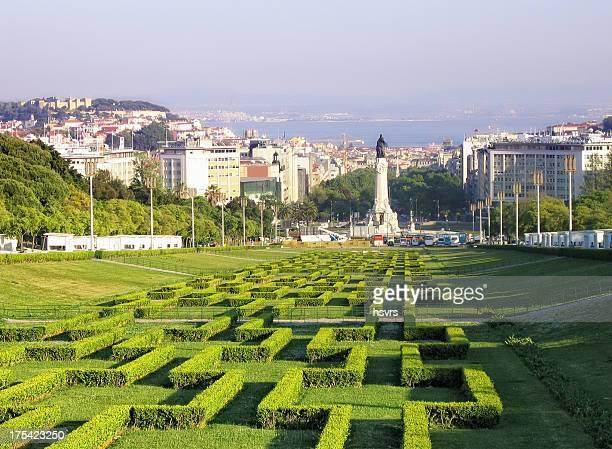 エドゥアルド 7 世公園(セカテドラル-ポルトガル) - バイシャ ストックフォトと画像