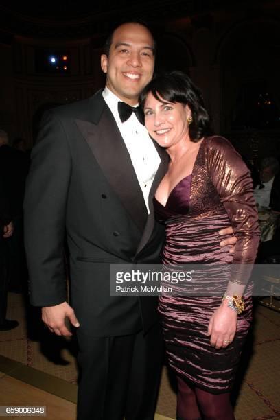 Eduardo Vilaro and Judy Dimon attend BALLET HISPANICO's Black Slipper Ball at The Plaza Grand Ballroom on April 20 2009 in New York City