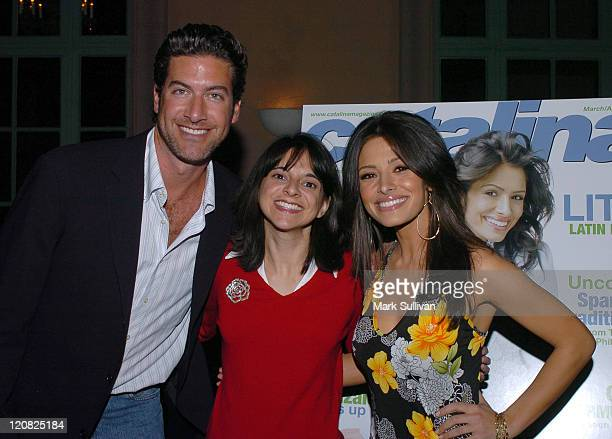 Eduardo Xol of Extreme Makeover Home Edition Cathy Areu publisher of Catalina Magazine and Sarah Shahi of The L Word