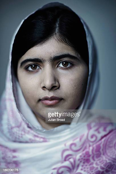 Education activist Malala Yousafzai is photographed for People magazine on August 30 2013 in Birmingham England