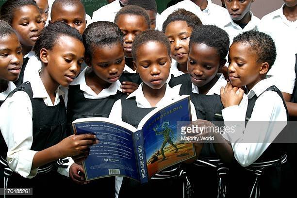 Education amongst underprivileged children at Litha Primary School in Gugulethu South Africa July 29 2005