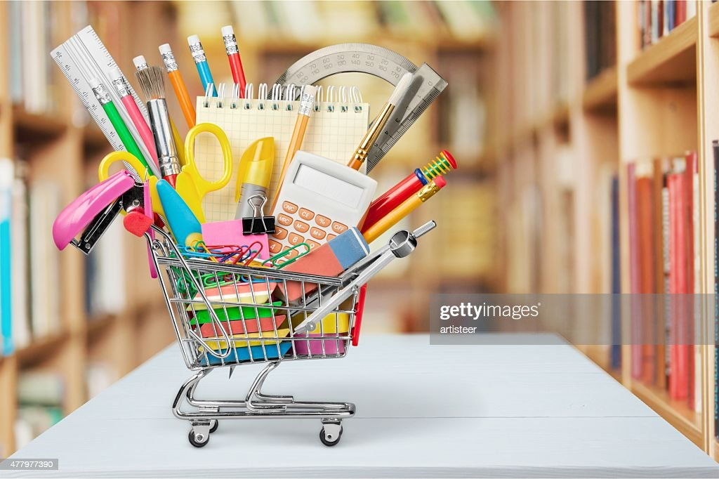 Education, Back to School, Shopping : Stock Photo