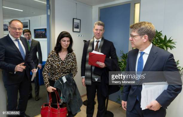 Education, Culture, Youth and Sport Commissioner Tibor Navracsics welcomes Senior Vice-President of Worldwide Corporate Affairs at Amazon James...