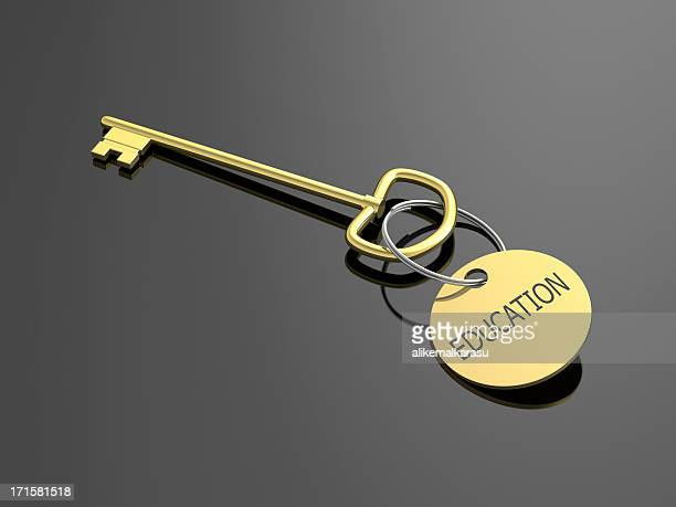 Educación gold key sobre negro